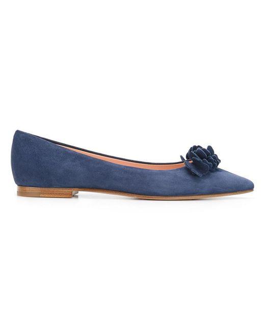 Unützer | Blue Pointed Toe Ballerinas | Lyst