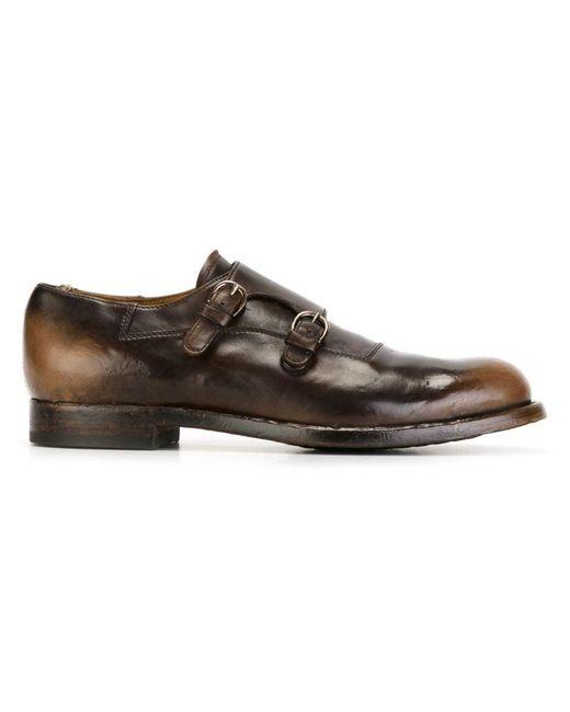 Officine Creative - Brown 'tempus' Monk Shoes for Men - Lyst