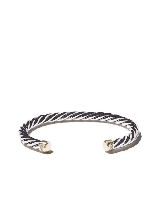 David Yurman - Metallic Sterling Silver Woven Cuff Bracelet for Men - Lyst