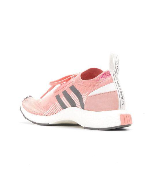 adidas Nmd Racer Primeknit Sneakers in Pink Lyst