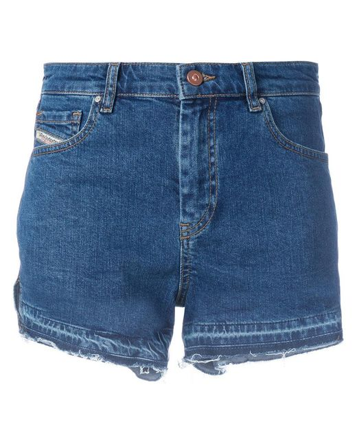 DIESEL - Saby Women's Shorts In Blue - Lyst