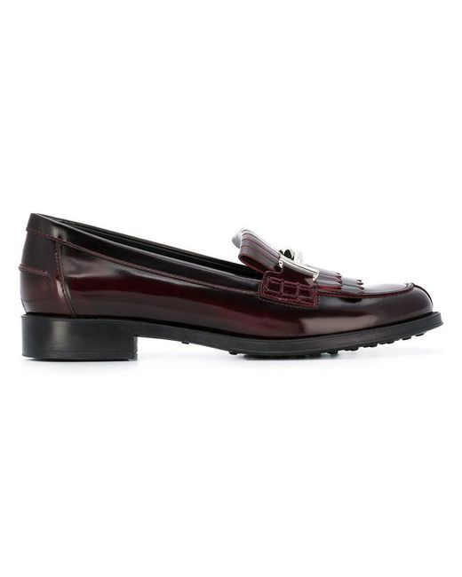 f32b8dbb1f3 Tod s - Multicolor Double-t Fringed Loafers - Lyst ...