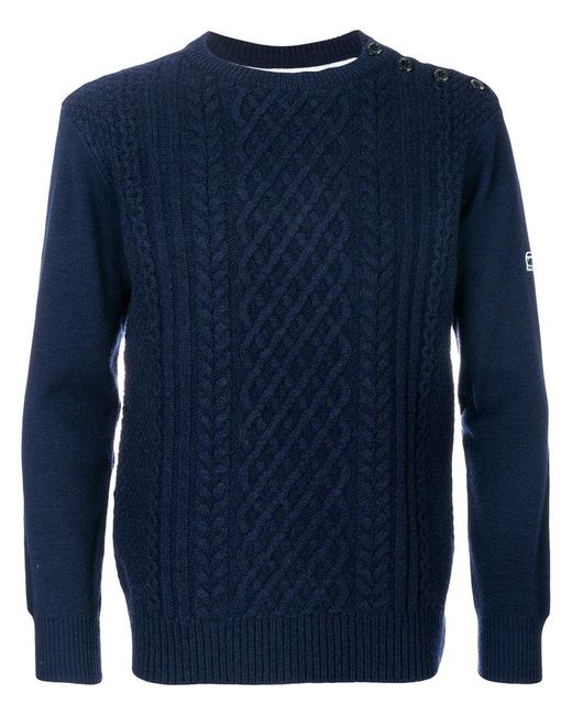 G-Star RAW | Blue Contrast Back Sweater for Men | Lyst