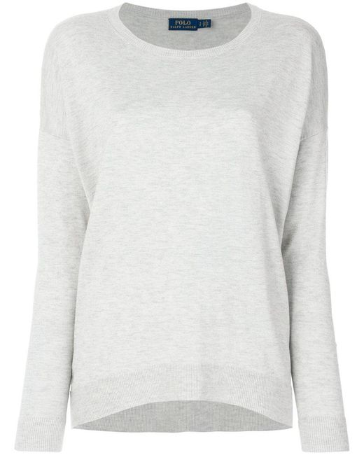 Polo Ralph Lauren | Gray Dropped Shoulders Jumper | Lyst