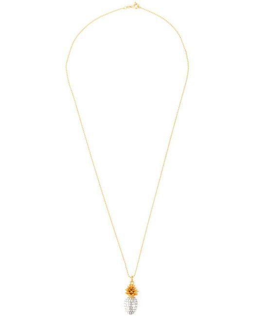 True Rocks - Metallic 'pineapple' Necklace - Lyst