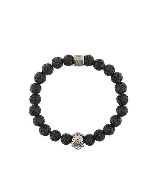 Northskull - Black Skull Charm Bracelet - Lyst