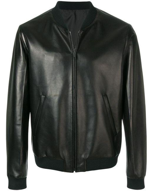 bae2398d4139 Prada - Black Bomber Jacket for Men - Lyst ...
