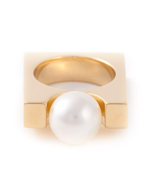 Chloé - Metallic 'darcey Square' Ring - Lyst