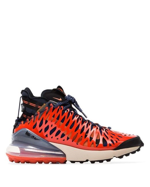 various colors 8a3a0 221eb Nike - Orange Blue And Red Ispa Air Max 270 High Top Sneakers for Men ...