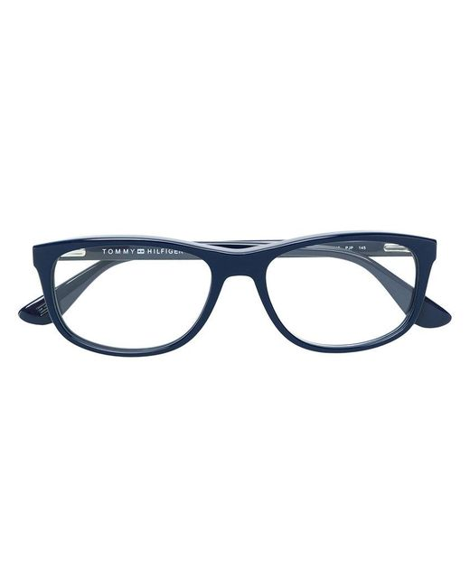 Tommy Hilfiger - Blue Rectangular Glasses - Lyst