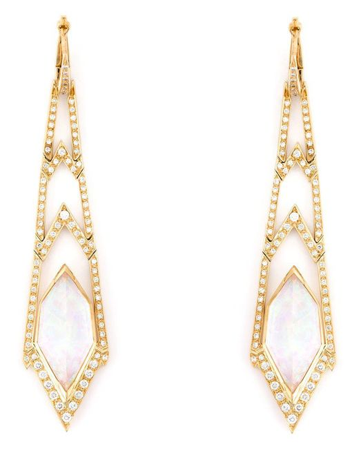 Stephen Webster | Metallic 'crystal Haze' Long Diamond Earrings | Lyst