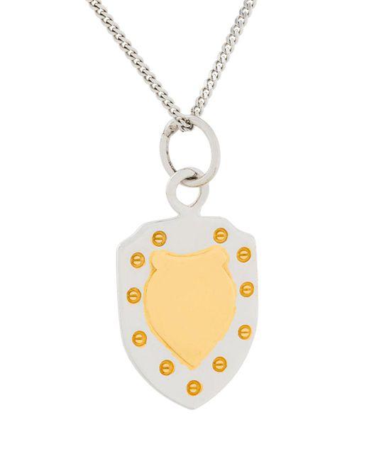 True Rocks mini shield necklace - Metallic cQvTY