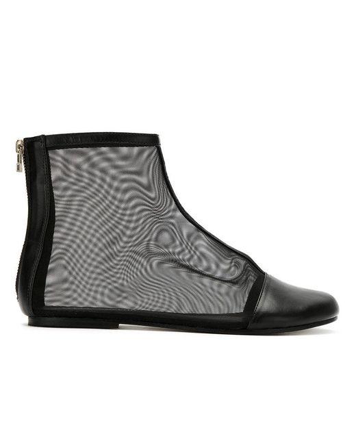 Gloria Coelho - Black Mesh Boots - Lyst