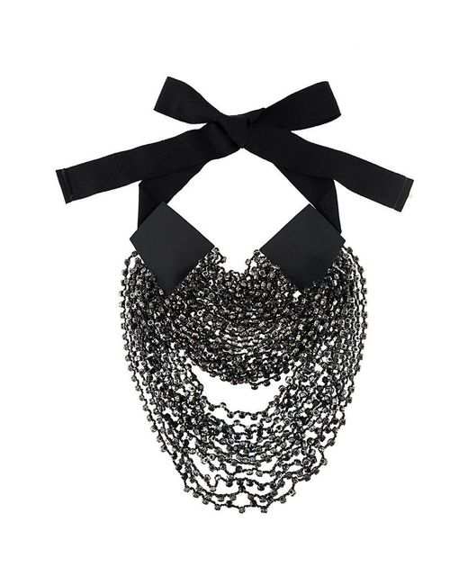 Ann Demeulemeester - Black Layered Beads Long Necklace - Lyst