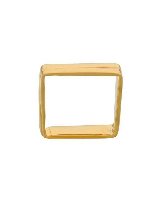 Niza Huang - Metallic Square Ring for Men - Lyst