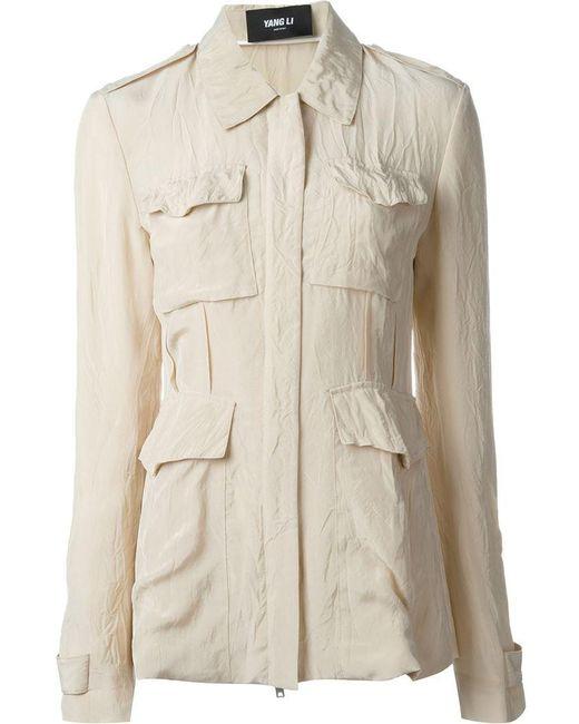Yang Li | Natural Lightweight Military Jacket | Lyst