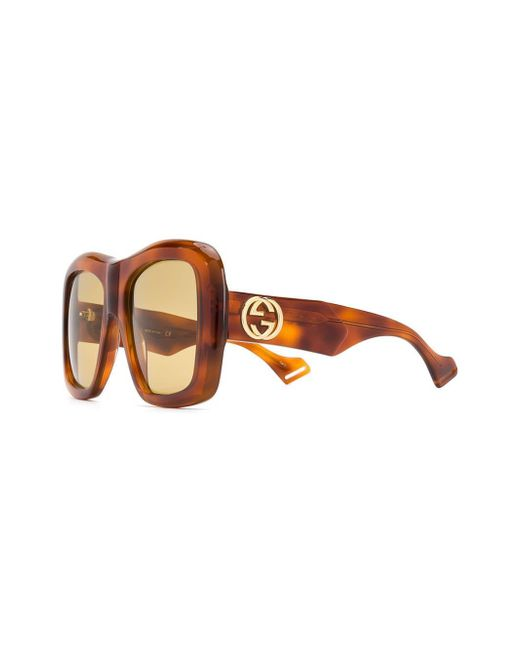 1f1cf109f0360 ... Gucci - Brown Classic Mass-shape Sunglasses - Lyst ...