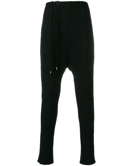 The Viridi-anne - Black Drop-crotch Panel Trousers for Men - Lyst
