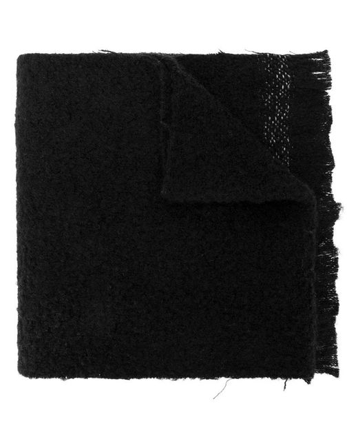 Rick Owens - Black Distressed Scarf for Men - Lyst