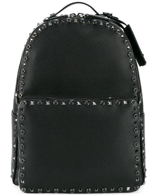 Valentino | Black Garavani Rockstud Rolling Backpack for Men | Lyst