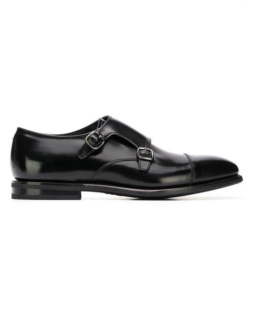 Church's - Black Buckle Detail Loafers for Men - Lyst