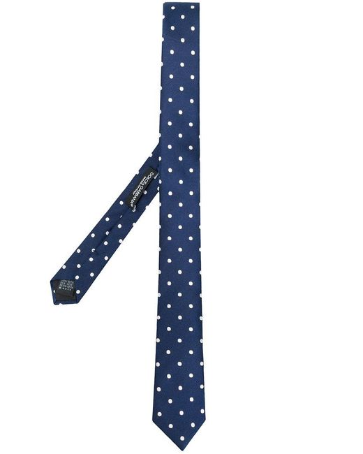 Dolce & Gabbana - Blue Polka Dotted Tie for Men - Lyst
