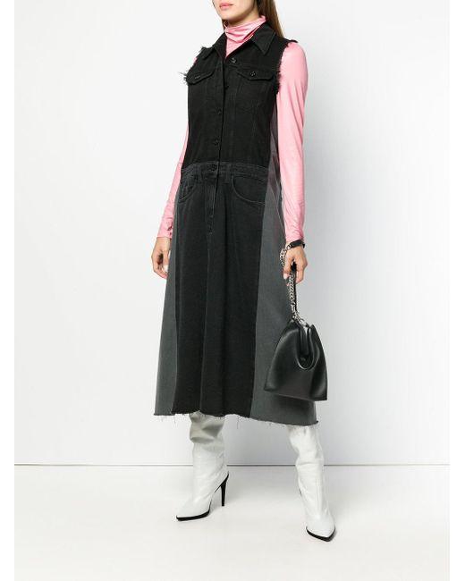 Store Cheap Price Buy Cheap Factory Outlet panelled denim dress - Black Maison Martin Margiela DL6R85b