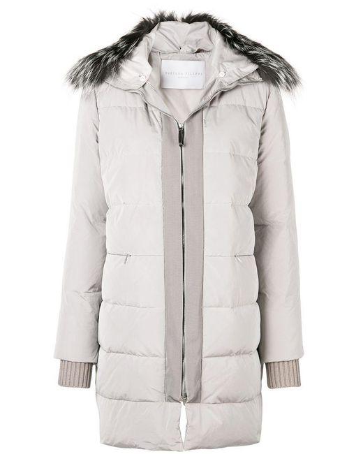 Fabiana Filippi - Multicolor Fur Collar Duffle Coat - Lyst