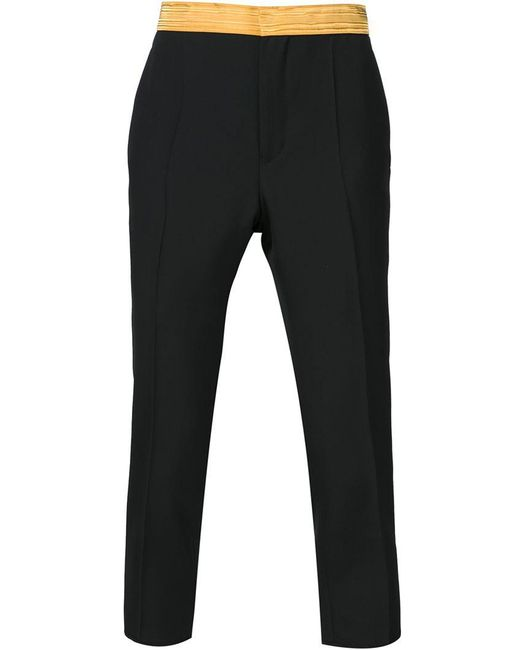 Haider Ackermann - Black Waistband Trousers for Men - Lyst