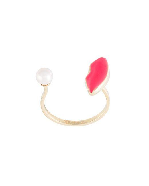 Delfina Delettrez - Pink 'lips Piercing' Ring - Lyst