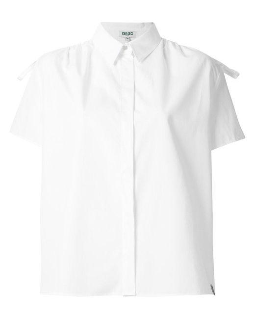KENZO - White Pointed Collar Shirt - Lyst