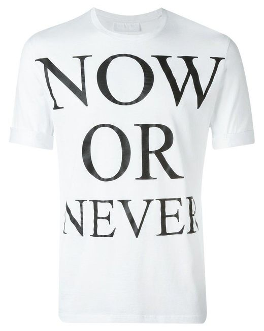Neil Barrett - White Printed T-shirt for Men - Lyst