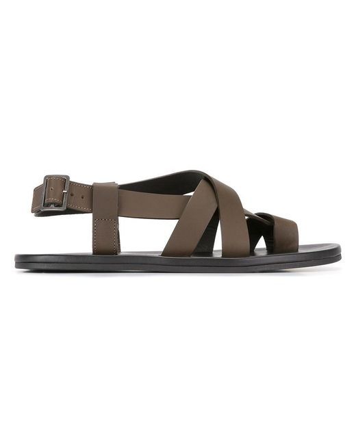 Lanvin | Brown Crossover Sandals for Men | Lyst