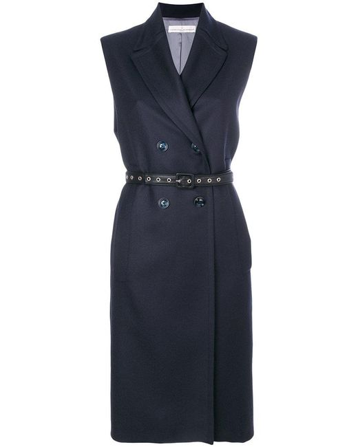 Golden Goose Deluxe Brand - Blue Sleeveless Double-breasted Coat - Lyst