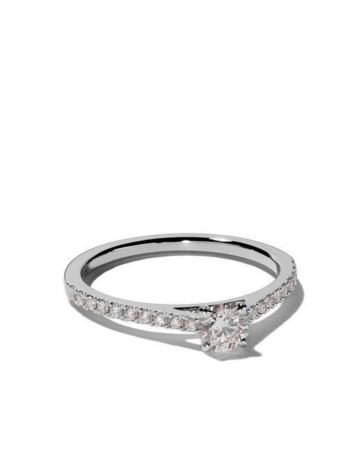 De Beers - Multicolor Platinum My First Db Classic Pavé Solitaire Diamond Ring - Lyst