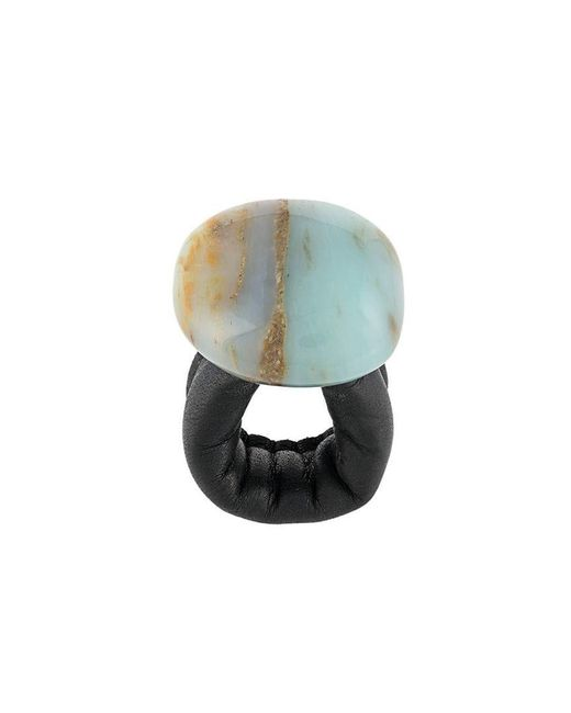 Monies - Blue Maxi Stone Ring - Lyst
