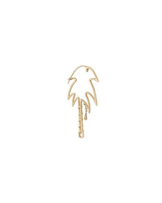 Yvonne Léon - Metallic 9kt Gold And Diamond Palm Tree Earring - Lyst