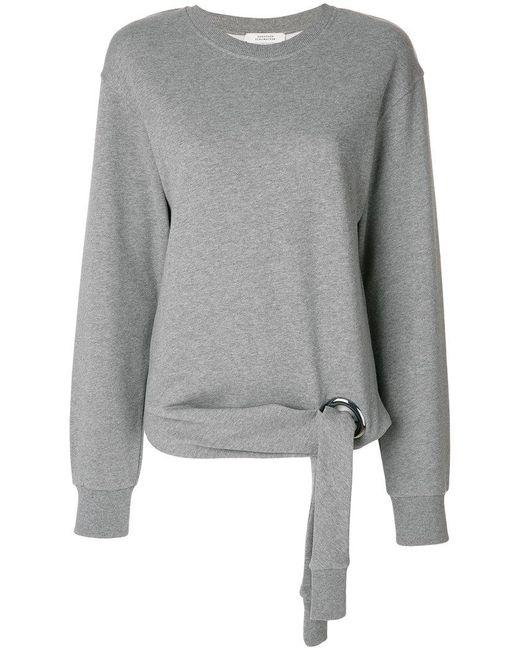 Dorothee Schumacher | Gray Tie Detail Sweatshirt | Lyst