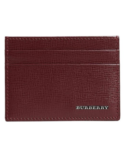Burberry - Red London Card Case - Lyst