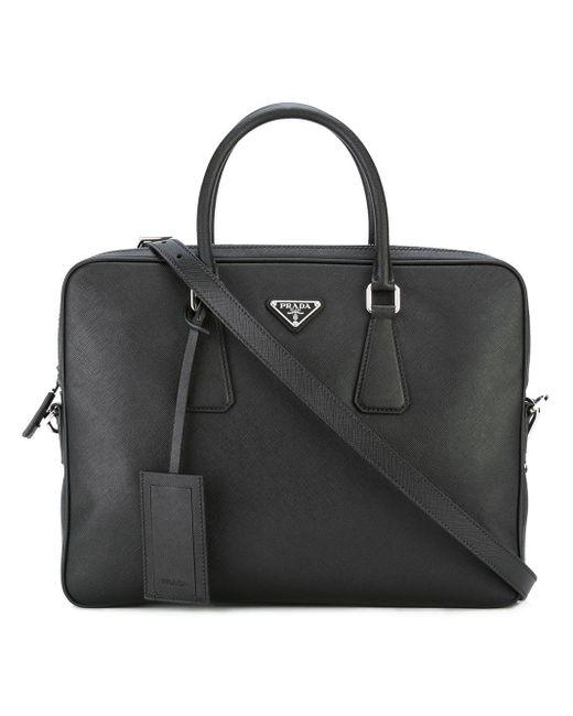 Prada - Black Classic Briefcase for Men - Lyst