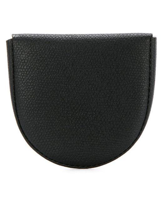 Valextra - Black Textured Coin Purse - Lyst