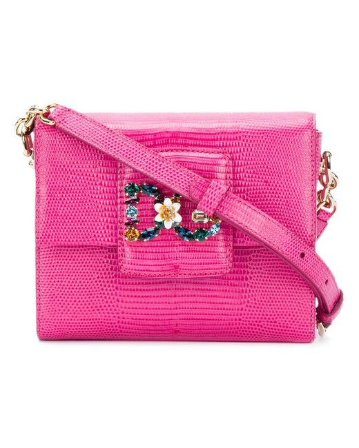 Dolce & Gabbana - Pink Bb6391a1095 86165 Ciclamino Leather/fur/exotic Skins->leather - Lyst