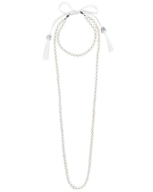 Night Market | White Long Pearl Necklace | Lyst