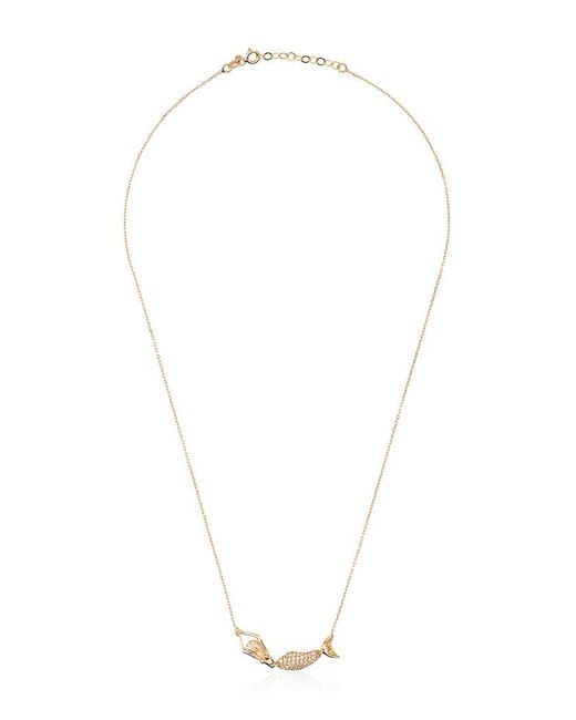 Anton Heunis - Metallic Gold Mermaid Diamond Necklace - Lyst