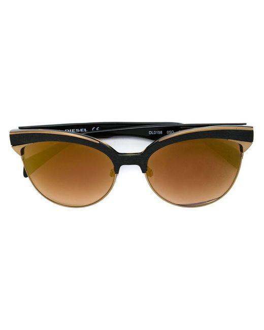 DIESEL | Black Cat Eye Sunglasses | Lyst