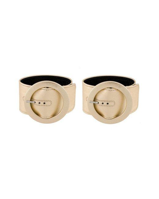 Attico - Metallic Circle Buckle Bracelet - Lyst