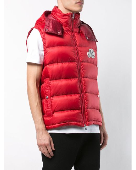 7ecb68cceca5 ... Moncler - Red Padded Gilet for Men - Lyst ...