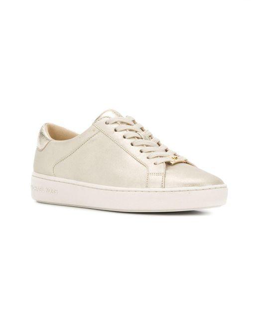 3bb2d2ffffee ... MICHAEL Michael Kors - White Irving Sneakers - Lyst ...