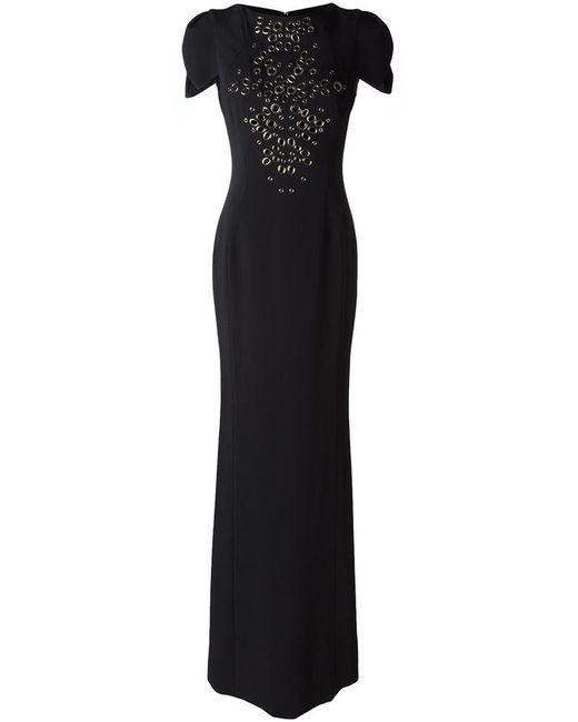 Antonio Berardi - Black Embellished Front Gown - Lyst