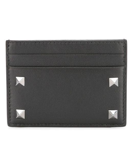 Valentino - Black Garavani Rockstud Cardholder for Men - Lyst